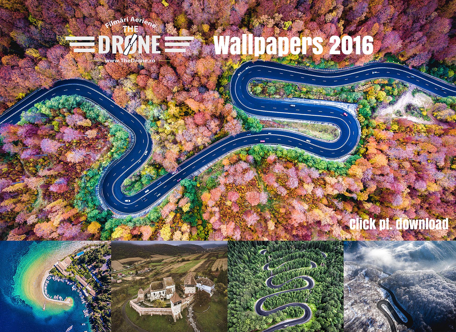 Colecția de walpapere TheDrone.ro 2016